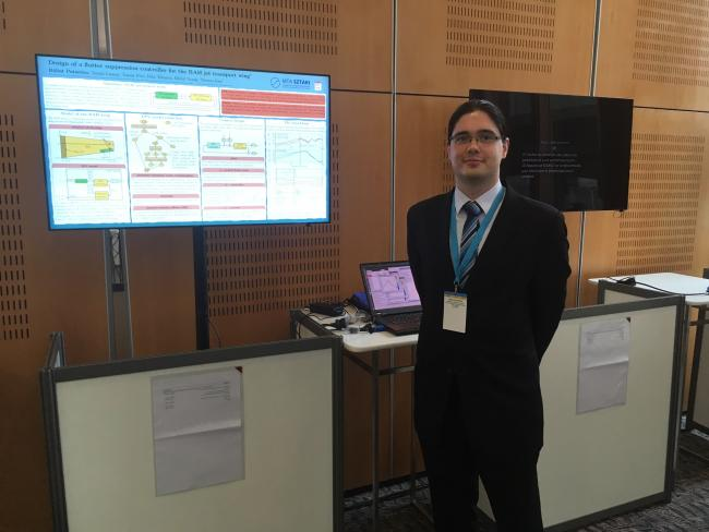 Bálint Patartics during his interactive presentation in Toulouse at the IFAC World Congress